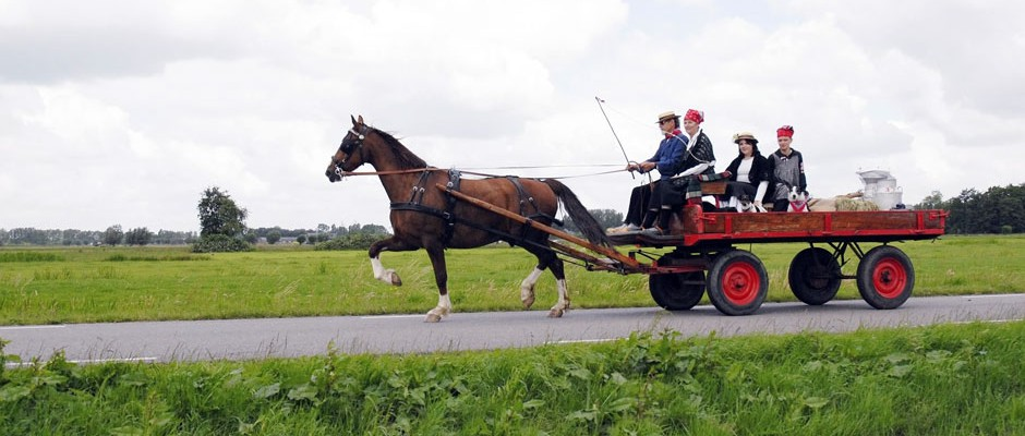 Met paard & wagen door het schitterende Zederik